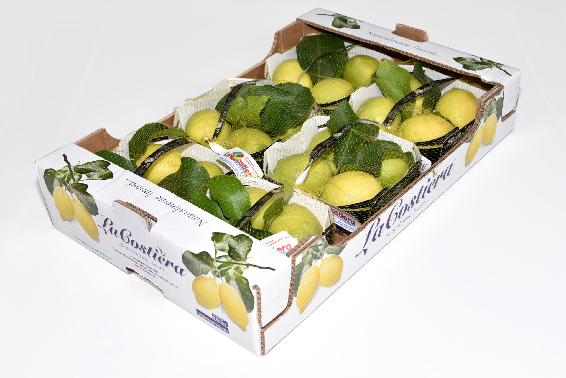 Lemon Primo Fiore leaf caliber 3 category 1 4,8Kg